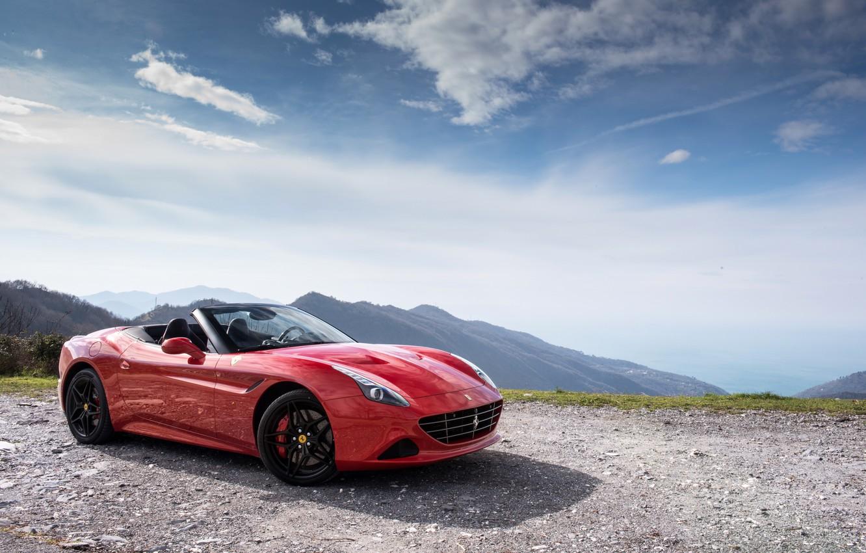 Photo wallpaper car, the sky, red, Ferrari, red, car, Ferrari, California T, Handing Speciale
