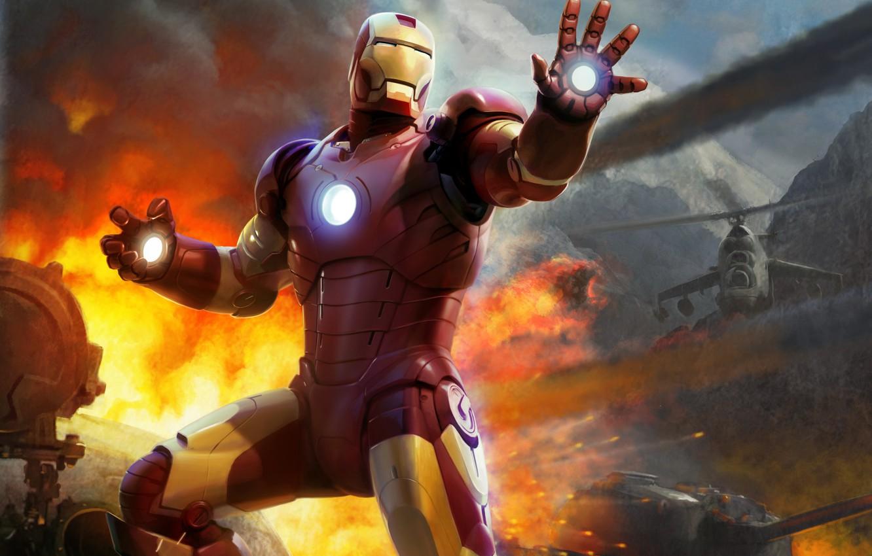 Photo wallpaper helicopter, tank, Iron man, Robert Downey ml, Robert Downey Jr., Tony Stark, Iron Man - …