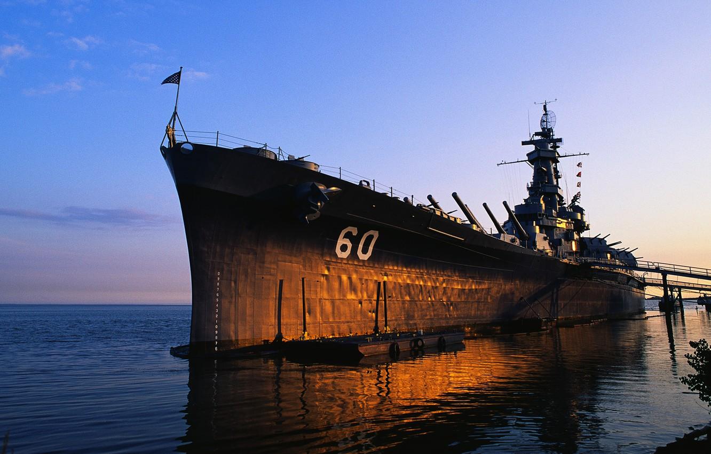 Photo wallpaper battleship, Battleship, USS Alabama, ship of the line