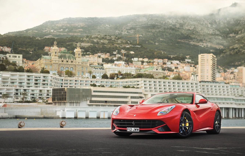 Photo wallpaper Ferrari, red, berlinetta, F12