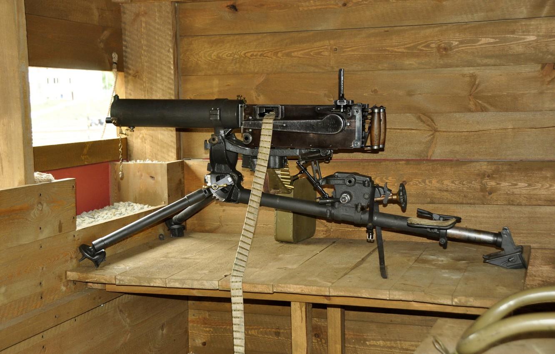 Photo wallpaper weapons, machine gun, easel, Maxim