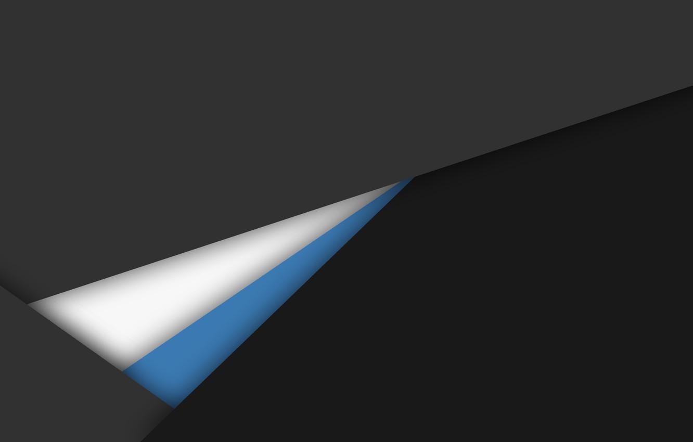 Photo wallpaper white, line, grey, blue, black, geometry, design, material