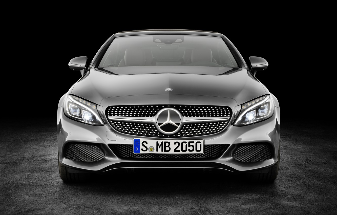 Photo wallpaper Mercedes-Benz, convertible, black background, Mercedes, AMG, AMG, Cabriolet, C-Class, A205