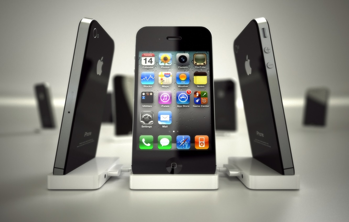 Photo wallpaper apple, phone, icons, iPhone, Apple, cell phone, iphone4, iPhone 4