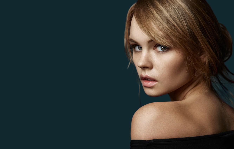 Photo wallpaper look, girl, face, background, sweetheart, model, hair, portrait, lips, beautiful, shoulder, Rus, Anastasia Shcheglova, Anastasia …