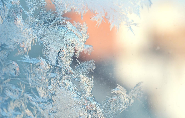 Photo wallpaper ice, winter, ice, winter, frosty pattern