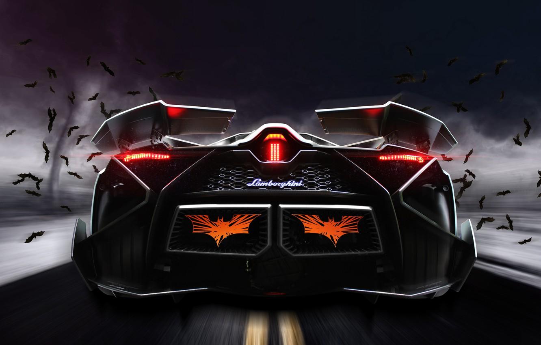 Photo wallpaper Concept, Lamborghini, Car, Storm, Road, Bats, Rear, Egoista