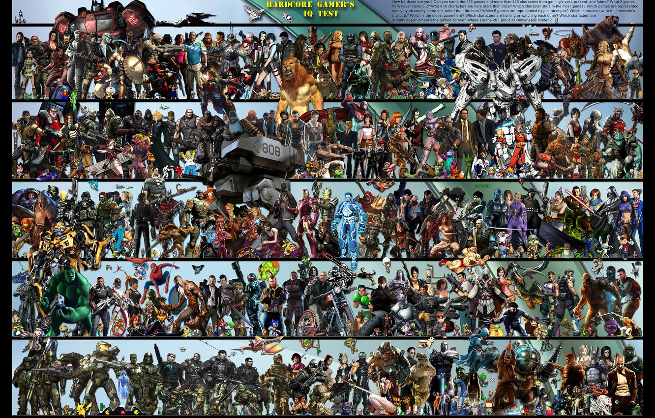 Photo wallpaper game, characters, all, test