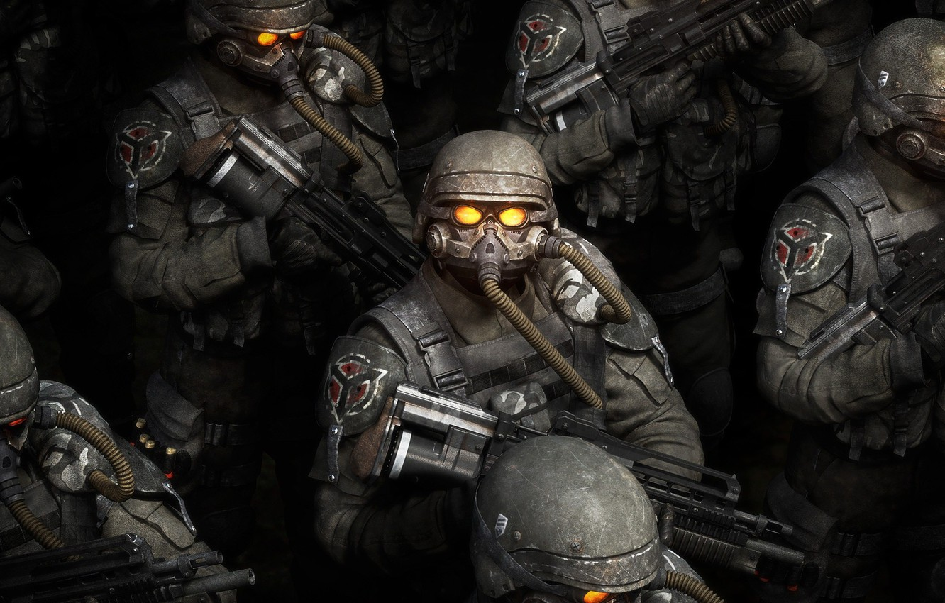 Photo wallpaper weapons, Soldiers, Killzone