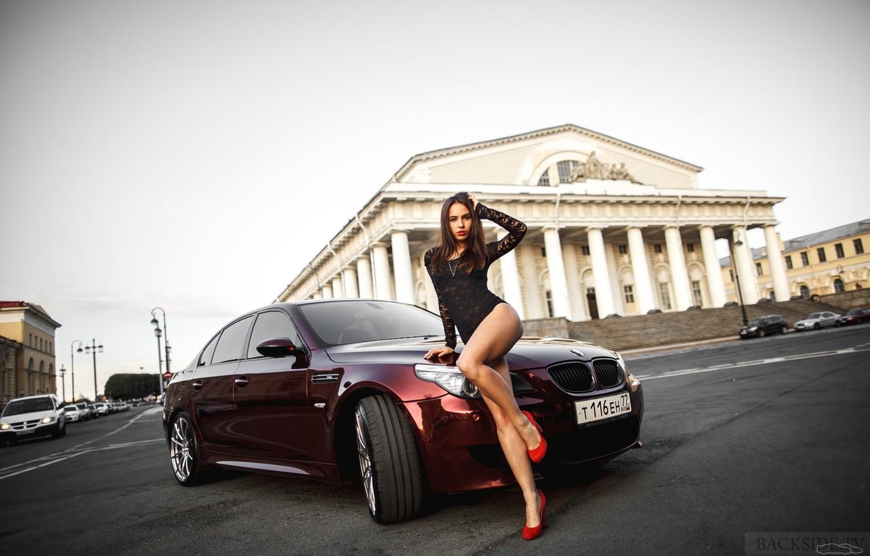 Photo wallpaper BMW, Shadow, E60, Smotra