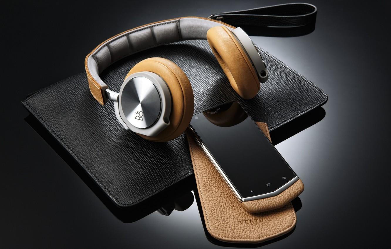 Photo wallpaper headphones, phone, case, smartphone, Bang & Olufsen, Bang and Olufsen, BeoPlay H6, Vertu
