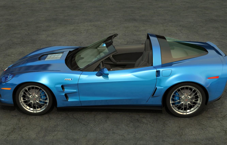 Photo wallpaper Chevrolet, art, corvette, convertible, zr1, outdoors, dangeruss