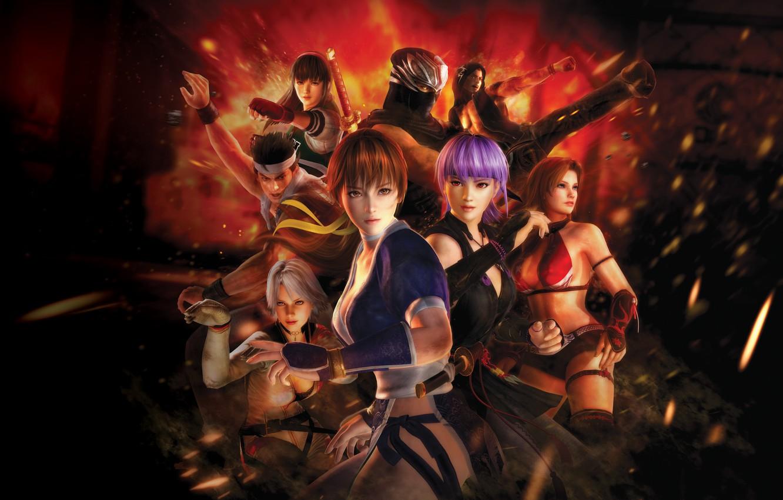 Photo wallpaper Fighting, fighters, Rig, sinobi, Ryu Hayabusa, NeoGAF, Profit, Kunoichi of destiny, DOA5, Dead or Alive …