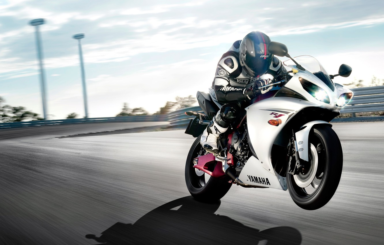 Photo wallpaper speed, motorcycle, Yamaha