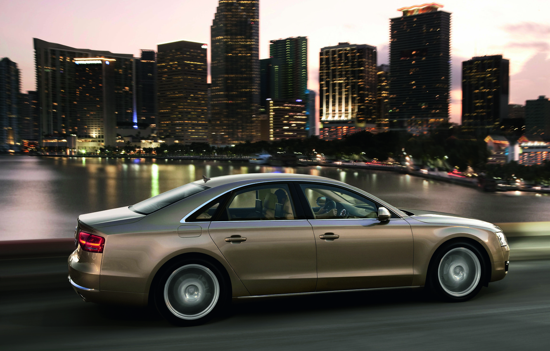 Photo wallpaper Audi, The evening, Auto, The city, Sedan, Riding