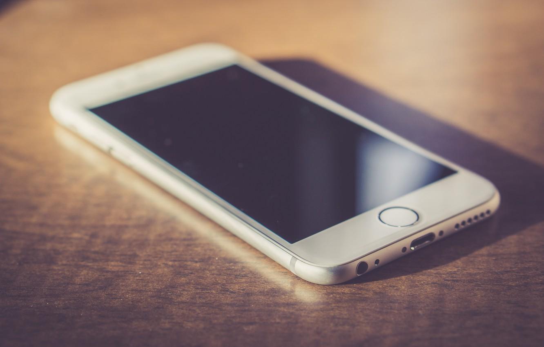Photo wallpaper white, phone, iphone, screen, iPhone