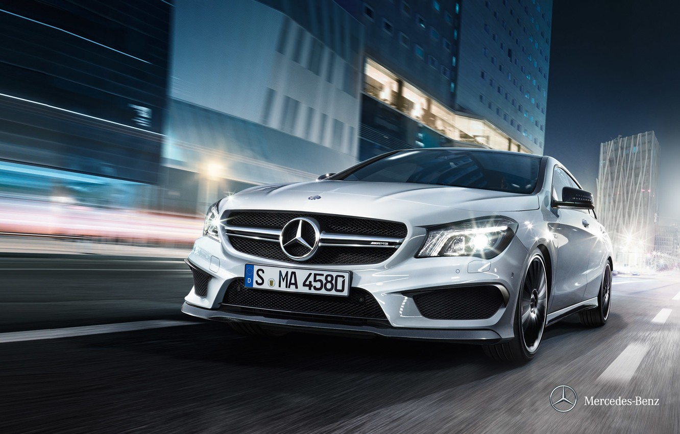 Photo wallpaper Mercedes-Benz, 2012, Mercedes, CLA-class, x117