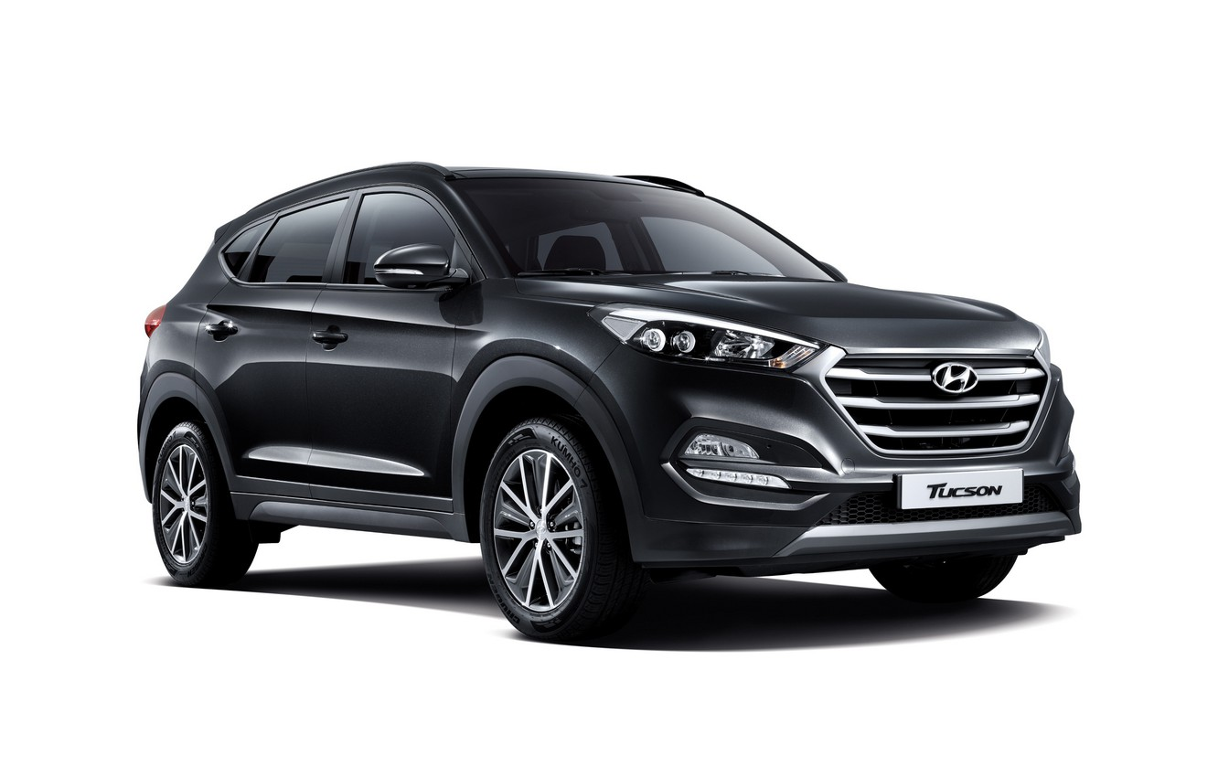 Photo wallpaper white background, Hyundai, crossover, Tucson, Hyundai, Tucson