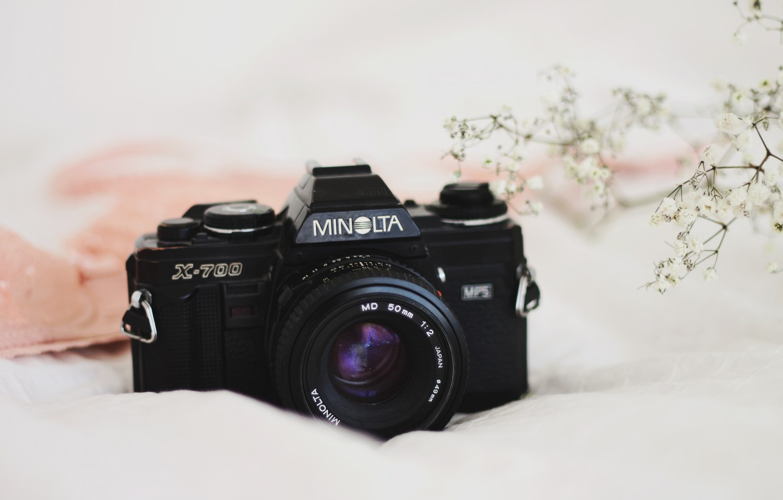 Photo wallpaper background, camera, Minolta