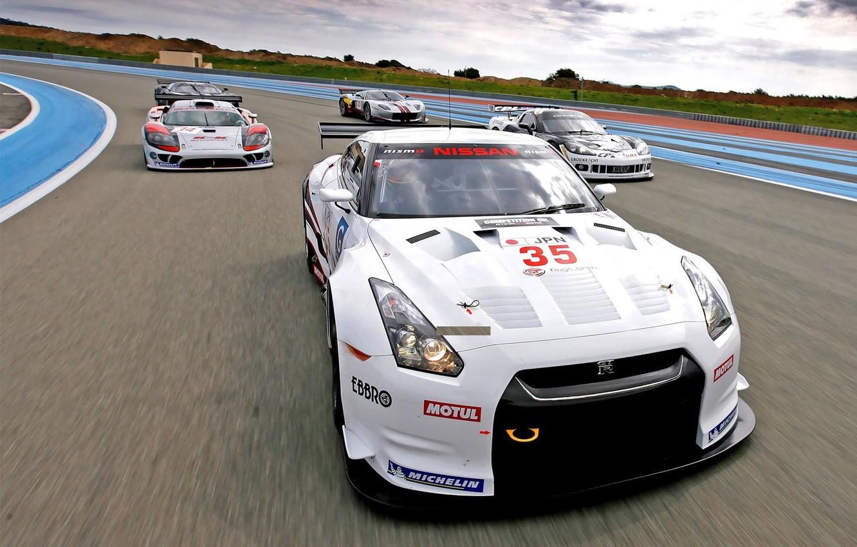 Photo wallpaper Race, Nissan, supercars