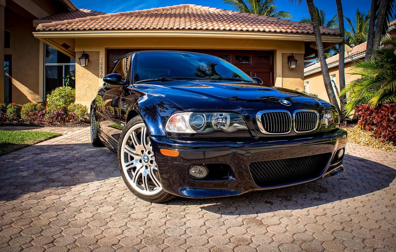 Photo wallpaper lights, tuning, the hood, BMW, BMW, before, three, bumper, Drives, E46, 3 series