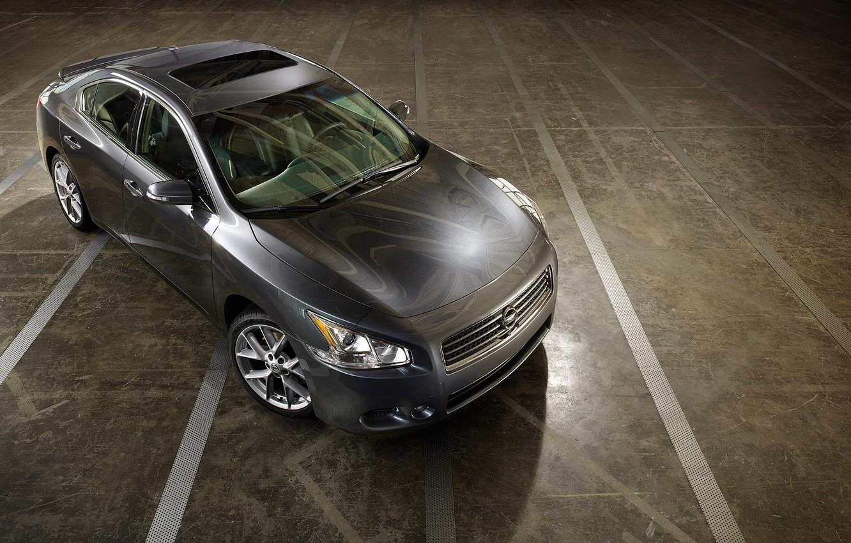 Photo wallpaper Concrete, Grey, Nissan