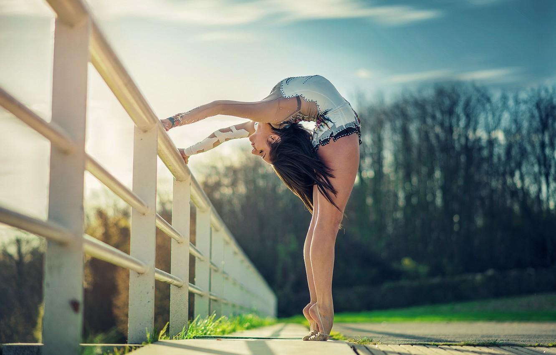 Photo wallpaper girl, pose, background