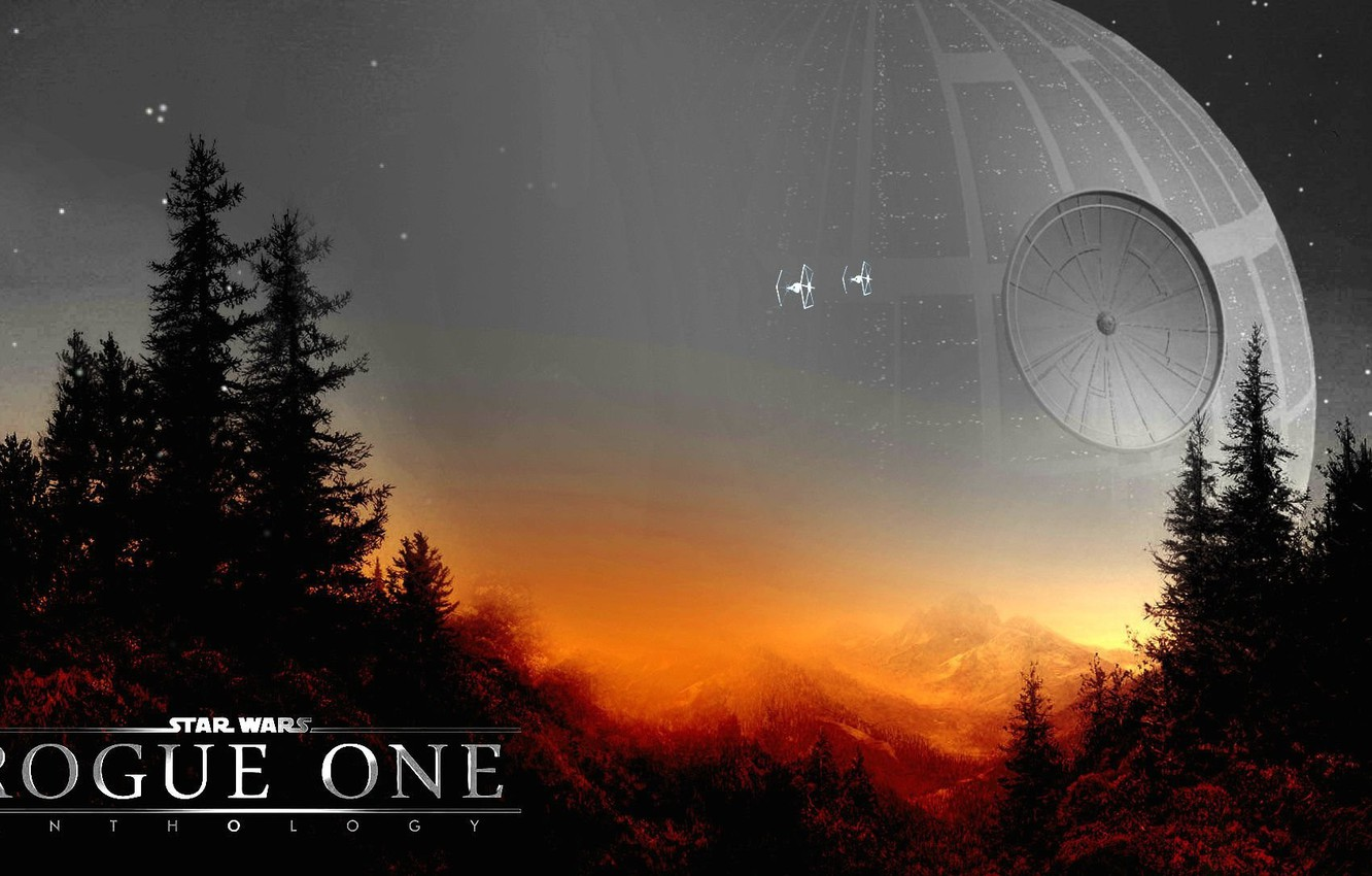 Wallpaper Cinema Star Wars Forest Sky Trees Landscape Weapon Mountains Stars Spaceship Movie Film Horizon Official Wallpaper Ewoks Spin Off Images For Desktop Section Filmy Download