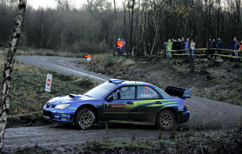 Photo wallpaper road, turn, skid, dirt, subaru, rally, UK, rally, wrx, impreza, wrc, sti, 2007, great britain, …