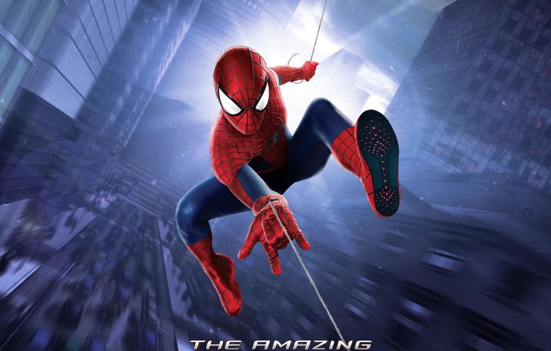 Photo wallpaper city, web, the amazing spider-man, high voltage, the amazing spider man 2