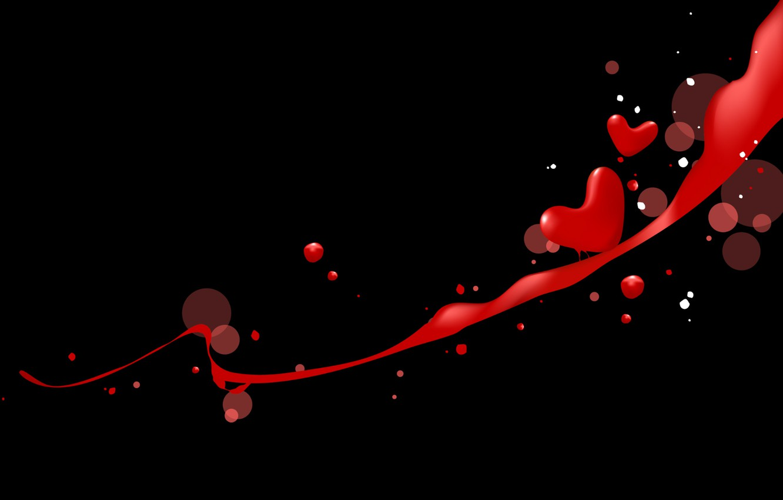 Photo wallpaper love, squirt, heart