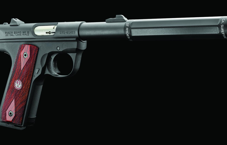 Photo wallpaper pistol, Ruger, .22