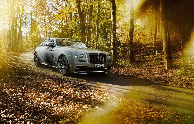 Photo wallpaper car, forest, Rolls Royce, tuning, rolls Royce, Wraith, Spofec