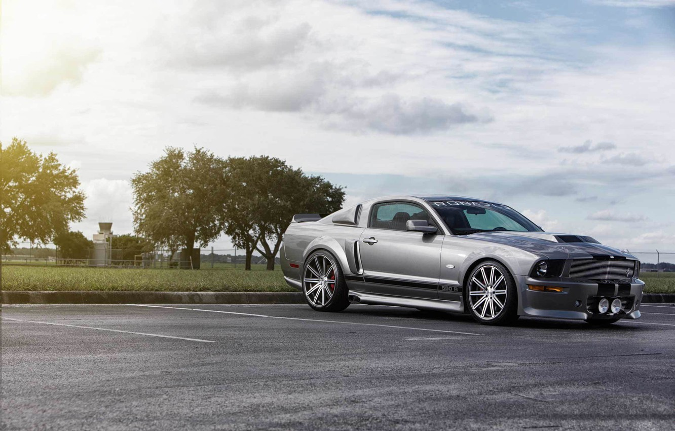 Photo wallpaper Mustang, Ford, muscle car, silvery, kit, 550R