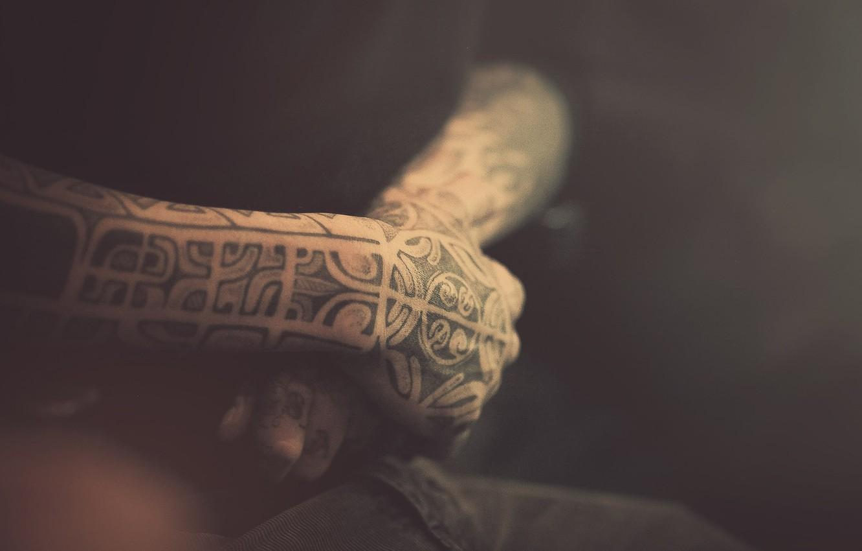 Photo wallpaper macro, tattoo, hugs