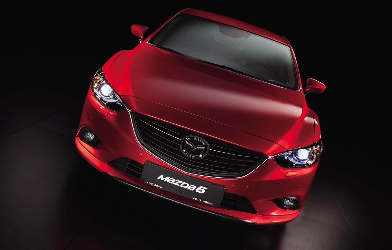 Photo wallpaper red, sedan, Mazda-6