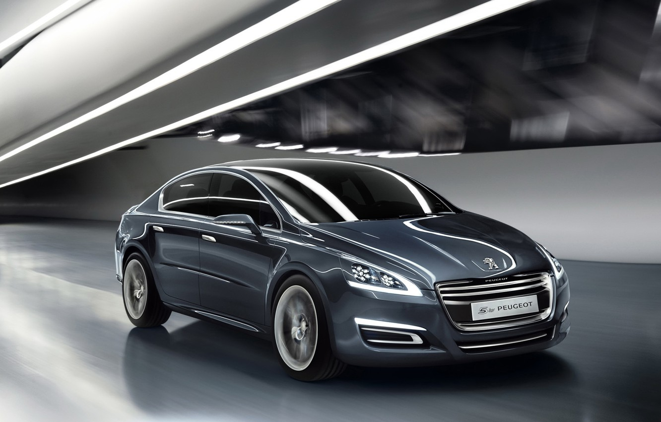 Photo wallpaper track, tunnel, Peugeot