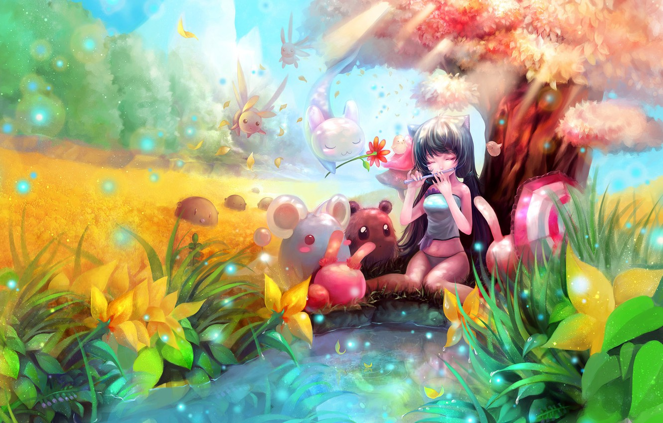 Photo wallpaper fiction, the game, creatures, girl, the magical world