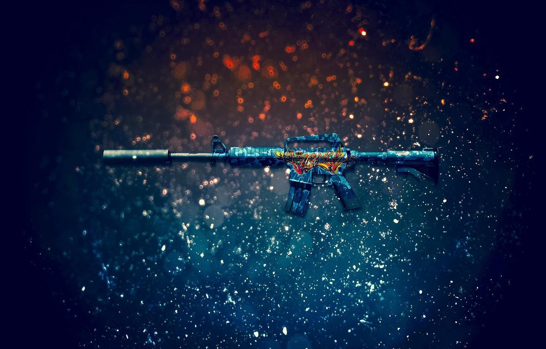 Photo wallpaper masterpiece, Counter-Strike: Global Offensive, CS:GO, Master Piece, M4A1-S