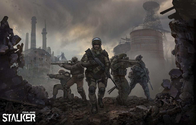 Photo wallpaper art, soldiers, stalker, Stalker, online