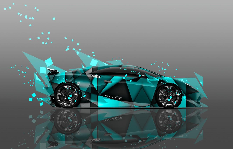 Photo wallpaper Color, Lamborghini, Wallpaper, Fragments, Car, Art, Abstract, Photoshop, Photoshop, Abstract, Design, Style, Wallpapers, Side, Lamborghini, …
