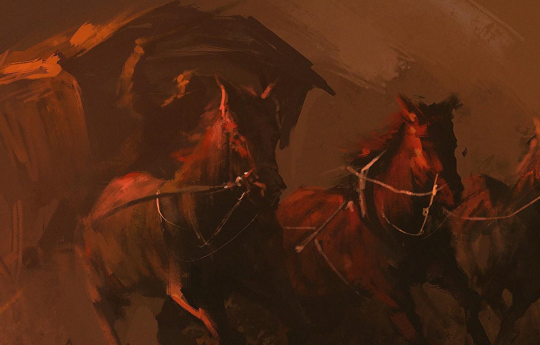 Wallpaper Horse Coach Art Horses Images For Desktop Section Zhivopis Download