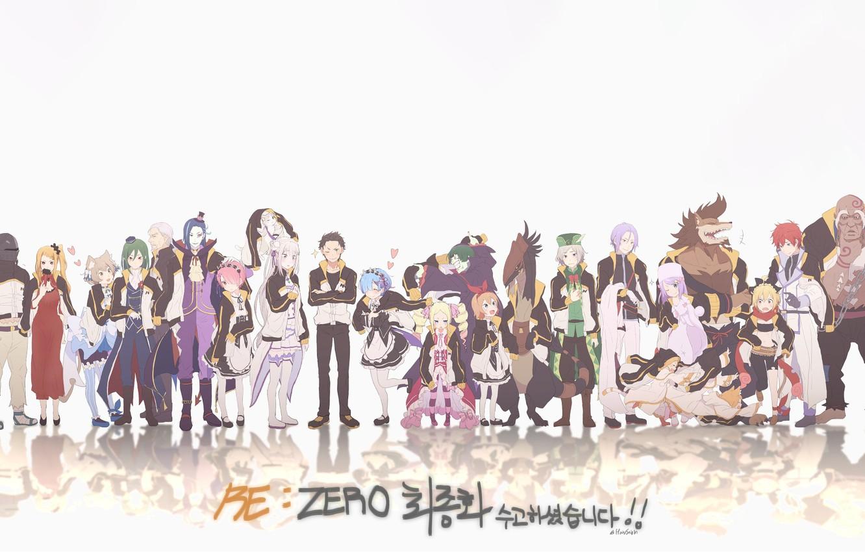Photo wallpaper anime, art, characters, Re: Zero kara hajime chip isek or Seikatsu, From scratch