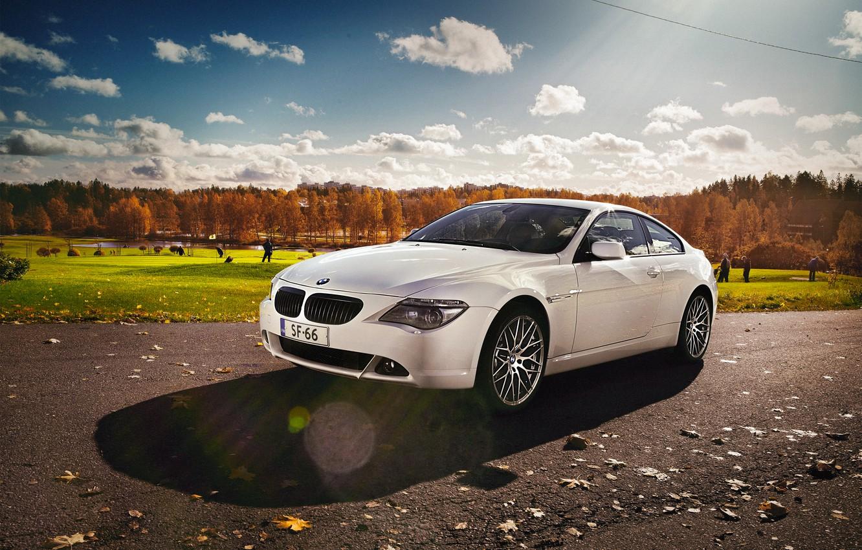 Photo wallpaper BMW, BMW, white, e63