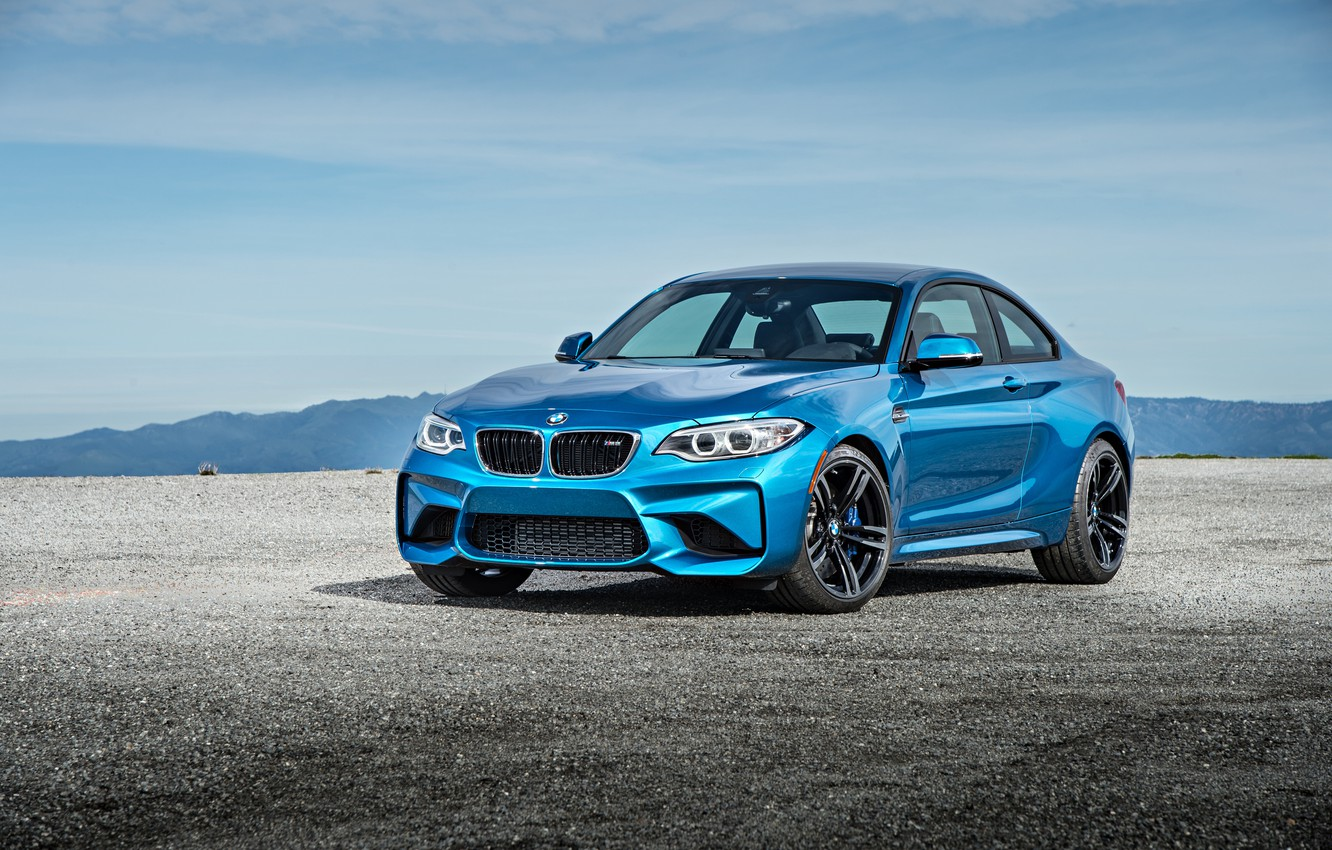Photo wallpaper BMW, coupe, BMW, blue, Coupe, F87
