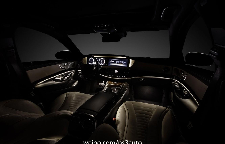Photo wallpaper Mercedes-Benz, interior, S-Class