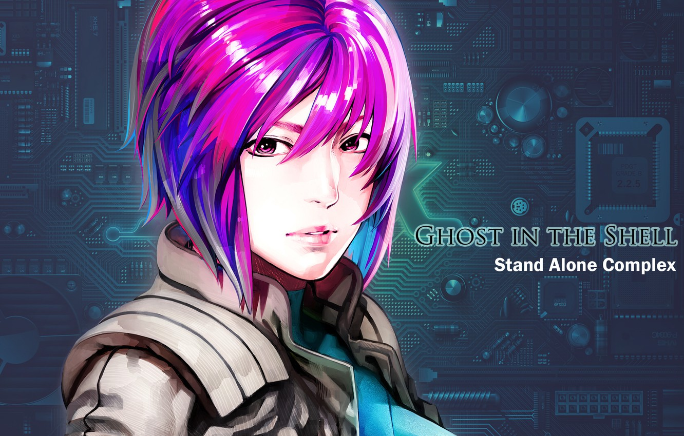 Photo wallpaper girl, text, scheme, Ghost in the Shell, major, stand alone, Kokak Is A Kido Or, …