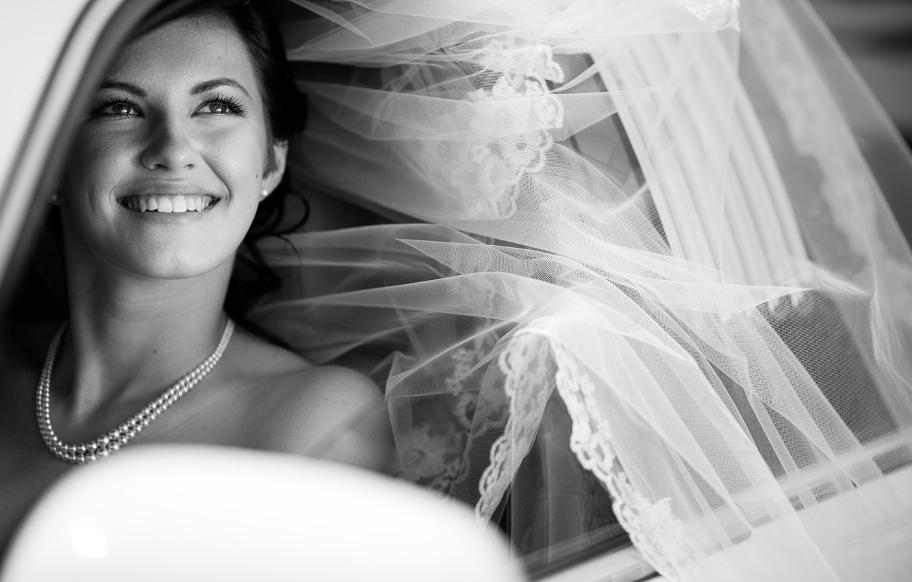 Photo wallpaper machine, background, black and white, Wallpaper, mood, pearl, beads, decoration, the bride, wedding