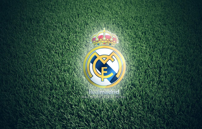 Photo wallpaper grass, Real Madrid, FC club