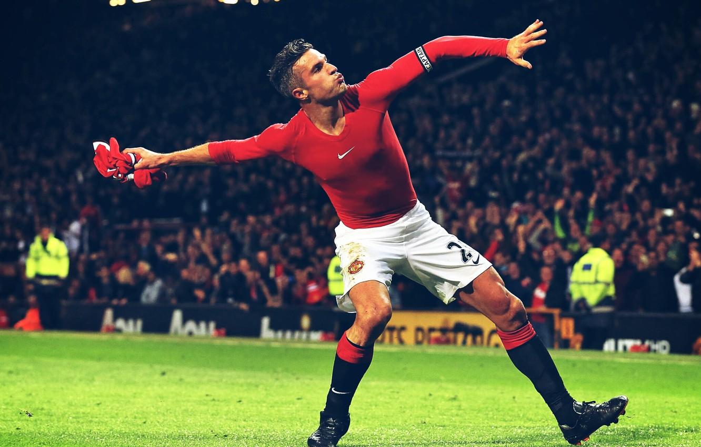 Photo wallpaper Manchester United, Manchester United, van Persie, van Persie